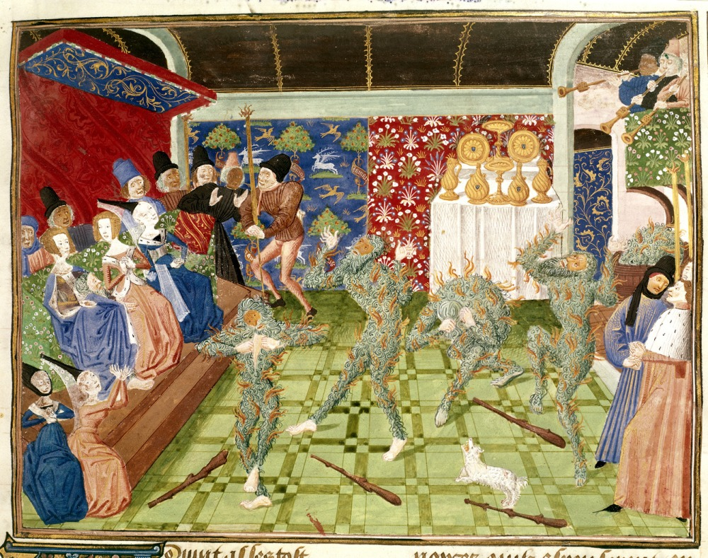 Froissart's Chronicles (Volume IV, part 2) - caption 'Masquerade at French court'